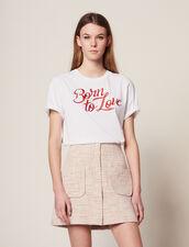 Jupe Courte En Tweed : Jupes & Shorts couleur Rose