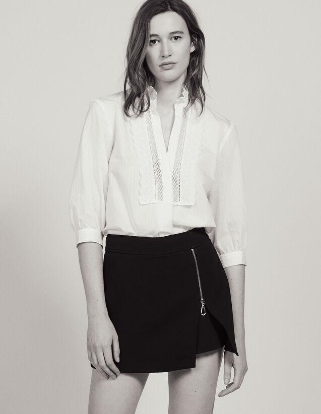 Short En Trompe L'Œil : Jupes & Shorts couleur Noir