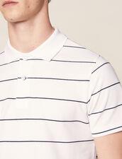 Polo En Piqué De Coton : LastChance-CH-HSelection-Pap&Access couleur blanc