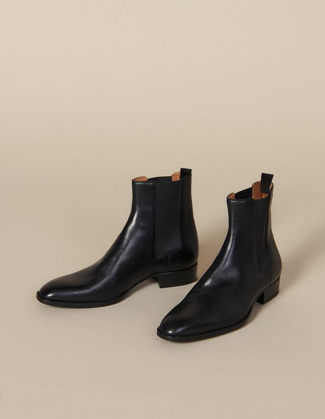 Chelsea en cuir lisse : Toute la collection Hiver couleur Noir