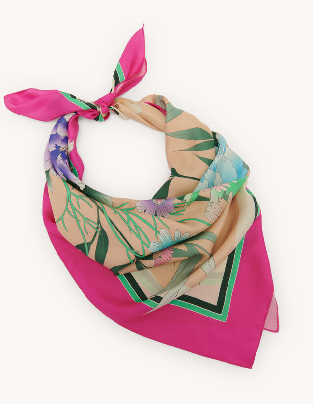Foulard en soie : Foulards & Écharpes couleur Fuchsia