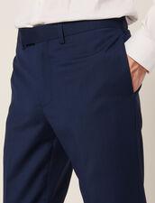 Pantalon De Costume En Laine Mohair : Sélection Last Chance couleur Bleu