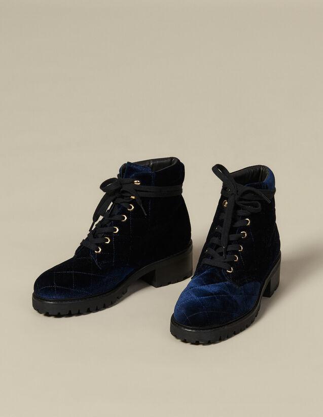 Rangers en velours matelassé : Toutes les Chaussures couleur Marine