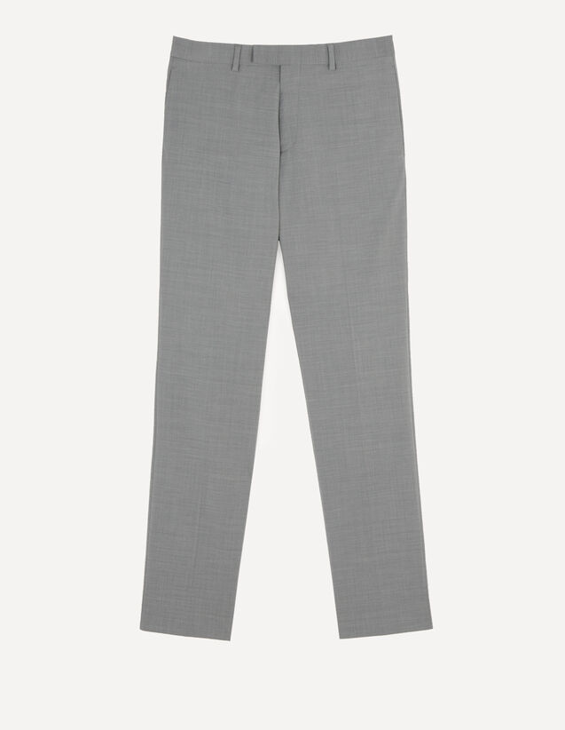 Pantalon de costume stretch : Costumes & Smokings couleur Gris Clair Chiné