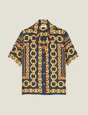 Chemise Manches Courtes Imprimée : Tops & Chemises couleur Marine