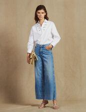 Jean Large : Jeans couleur Blue Vintage - Denim