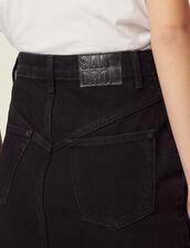 Jupe Courte En Jean : Jupes & Shorts couleur Noir
