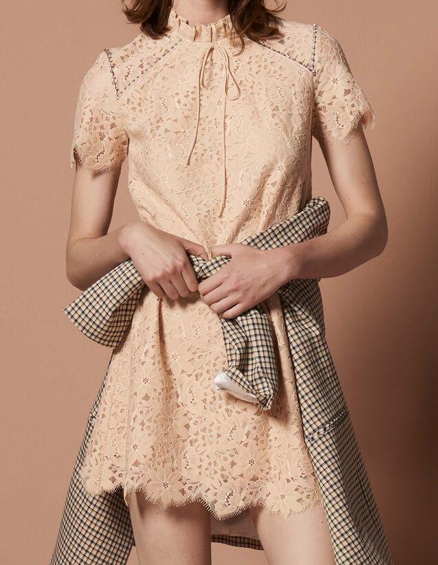 cc8c77d004f Robe manches courtes en dentelle   Copy of Kleider couleur Coquille