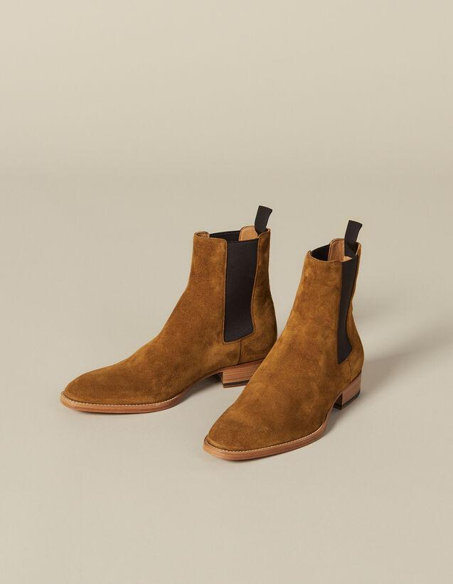 Chelsea En Suede : Chaussures couleur Caramel