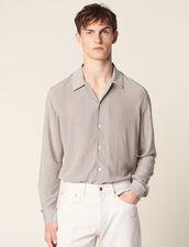 Chemise Micro Motif Fluide : Chemises couleur Noir/Blanc