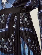 Jupe Longue Portefeuille Plissé Soleil : Jupes & Shorts couleur Bleu