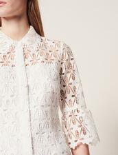 Robe Manteau En Guipure : Robes couleur Ecru