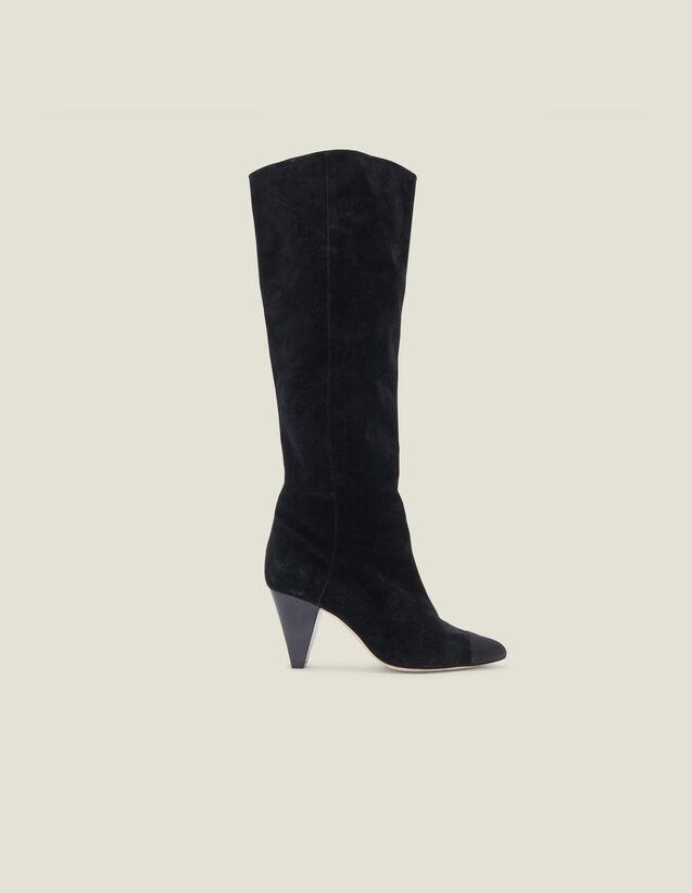 Boots en cuir avec bout pointu : Toutes les Chaussures couleur Noir