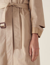 Manteau Long Esprit Trench Coat : Manteaux couleur Beige