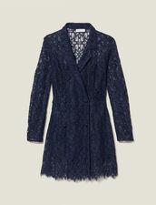 Robe manteau en dentelle : Robes couleur Marine