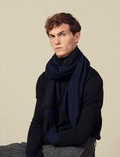 Écharpe  bicolore réversible : Foulards & Echarpes couleur Marine