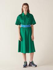 Robe En Satin De Coton : Sélection Last Chance couleur Vert
