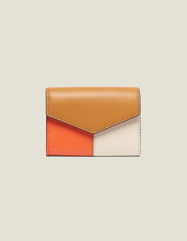 Portefeuille Modèle Lou : Collection Été couleur Camel/Ecru/Orange