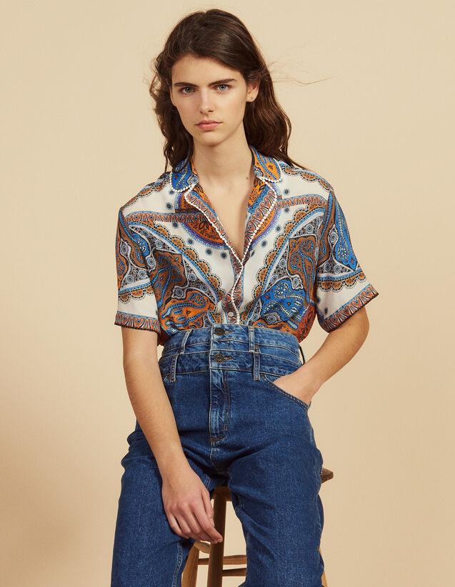 Chemise Pyjama Imprimée : Tops & Chemises couleur Multicolore