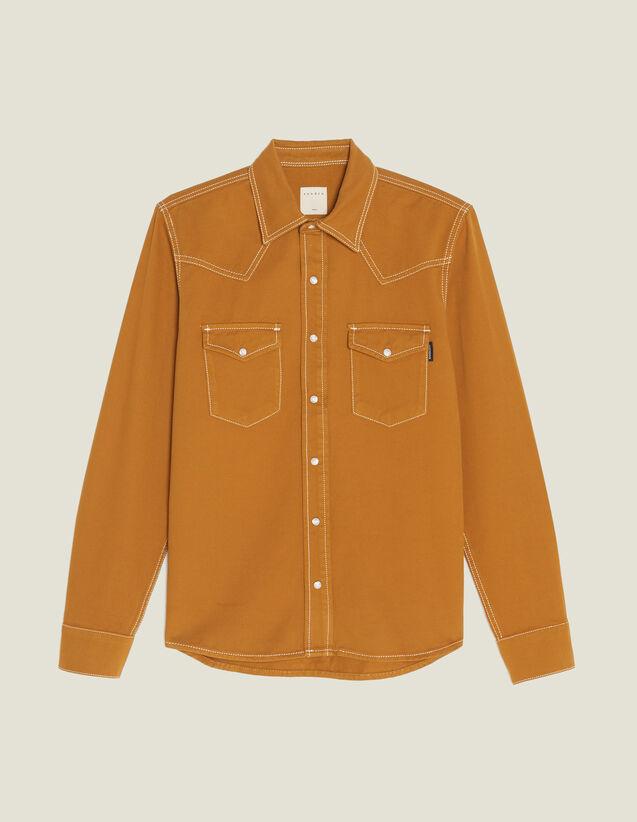 Chemise En Toile De Coton : Chemises couleur Ocre