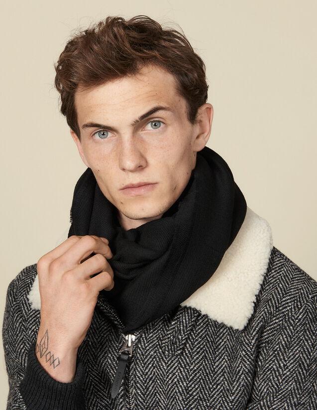 Écharpe  bicolore réversible : Foulards & Echarpes couleur Noir