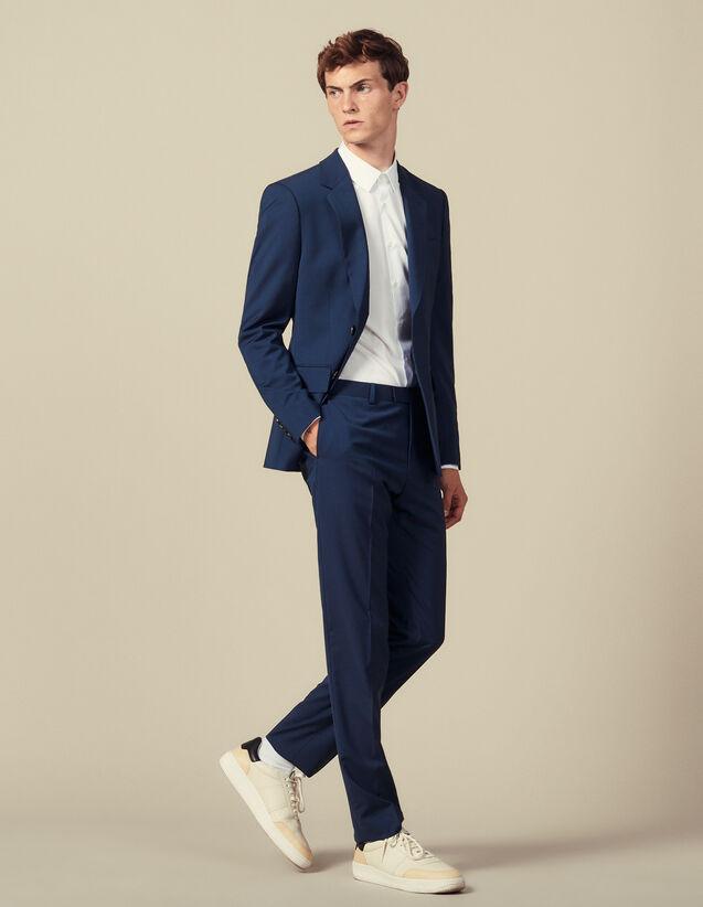 Pantalon De Costume Classique Super 110 : Toute la collection Hiver couleur Pétrole