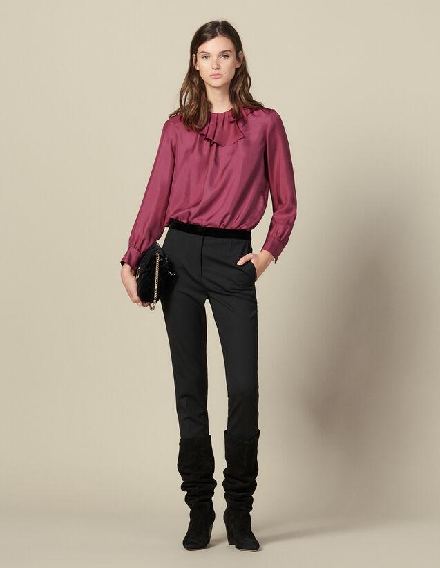 Pantalon de costume droit : Pantalons couleur Noir