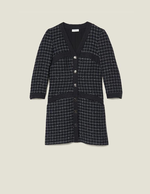 Robe Manteau Courte En Tweed : Robes couleur Marine