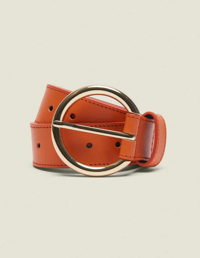 Ceinture En Cuir : Collection Été couleur Orange