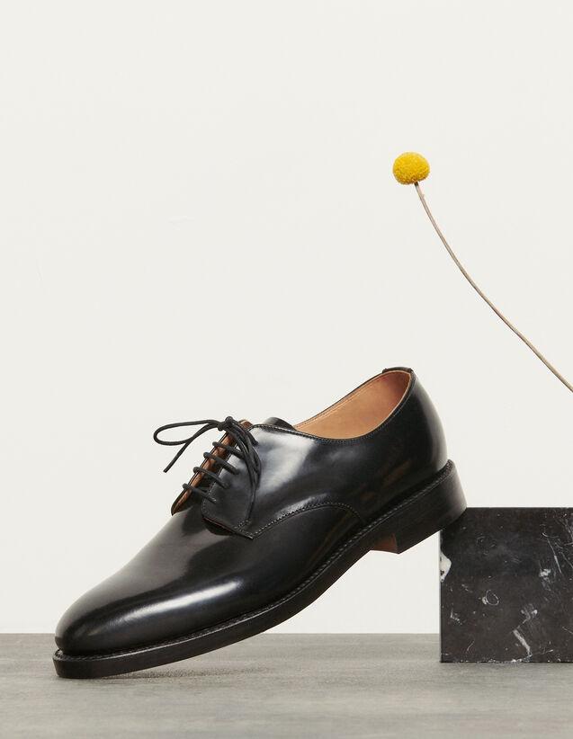 Derby en cuir : Chaussures couleur Noir