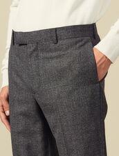 Pantalon de costume chiné en laine : Costumes & Smokings couleur Gris Chiné