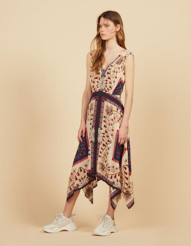 Robe Fluide Imprimée Sans Manches : Robes couleur Multicolore