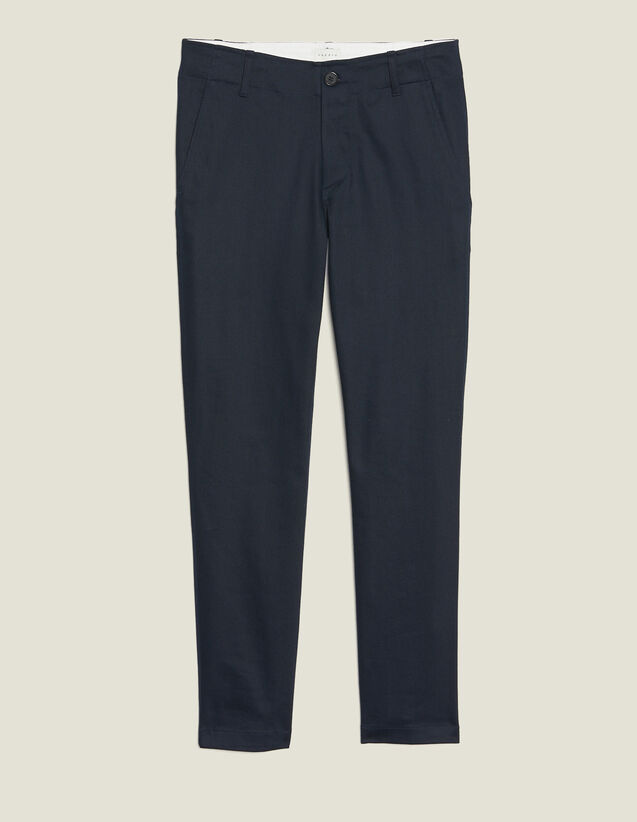 Pantalon Chino Droit : Pantalons & Shorts couleur Marine