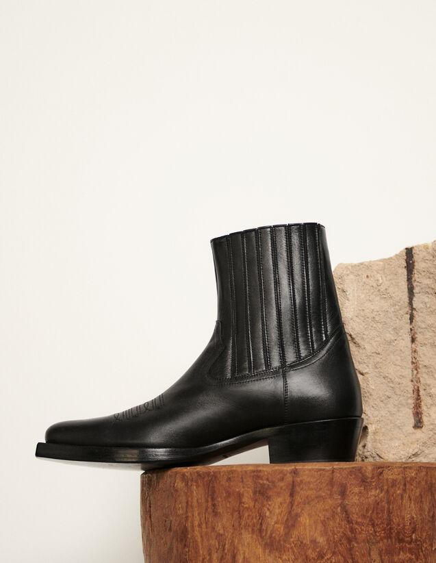 Bottines santiags : Chaussures couleur Noir