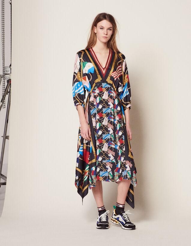 Robe Longue Imprimée : Robes couleur Noir