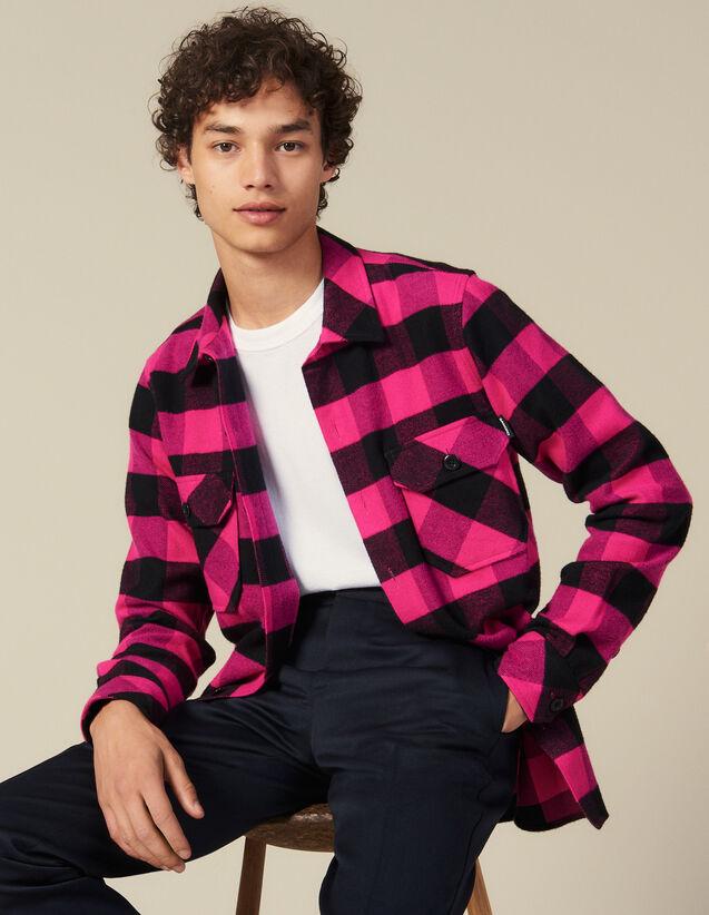 Chemise à carreaux en coton : Toute la collection Hiver couleur Bleu