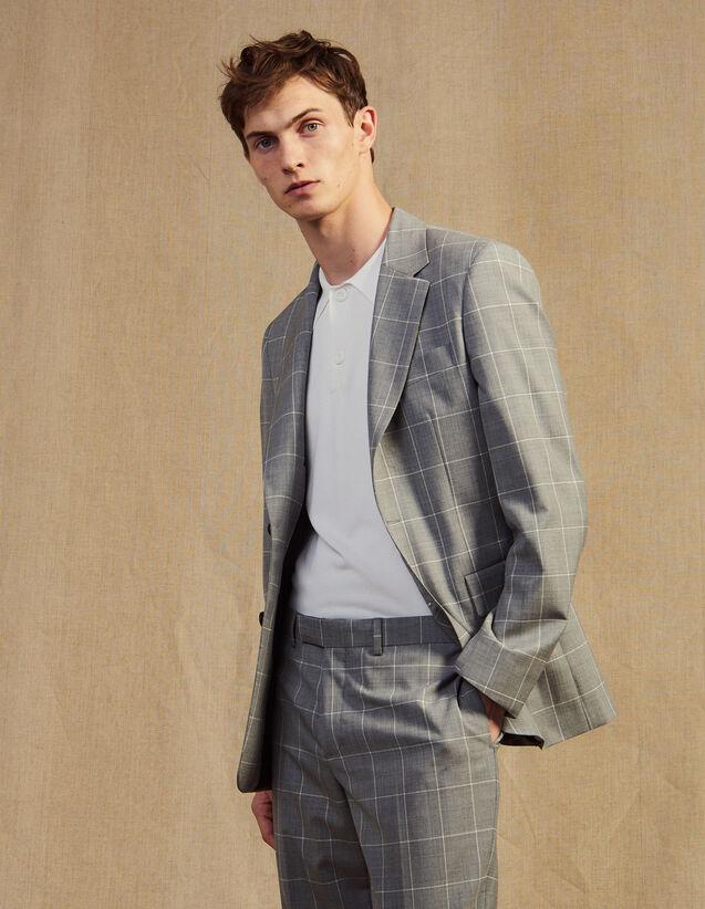 Veste De Costume Classique Super 120 : -60% couleur Gris Clair