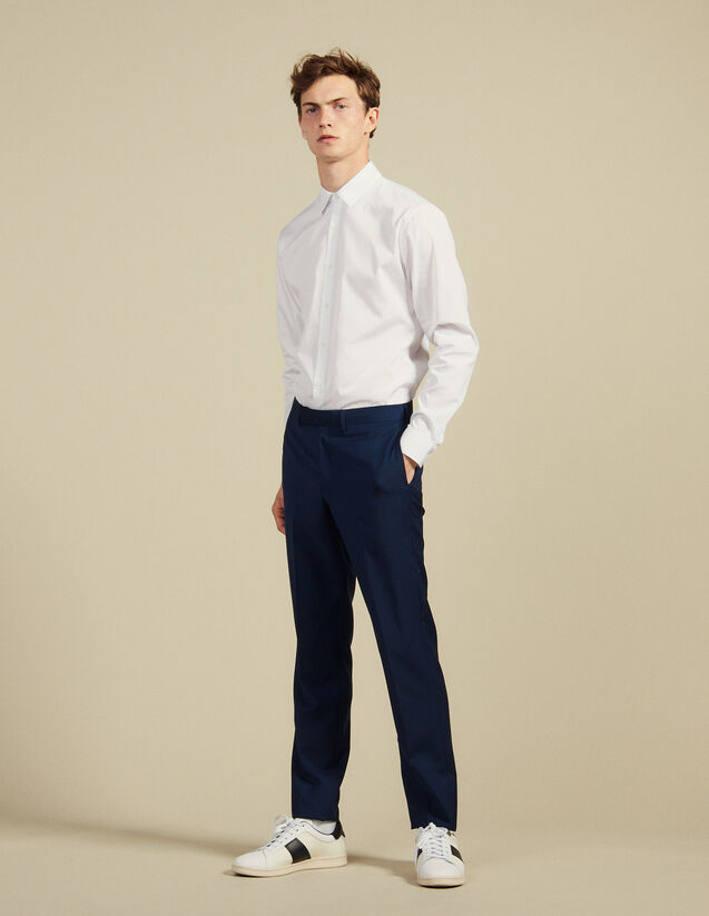 Pantalon De Costume En Laine Mohair : Costumes & Smokings couleur Bleu