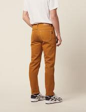 Pantalon En Toile De Coton : Pantalons & Shorts couleur Ocre