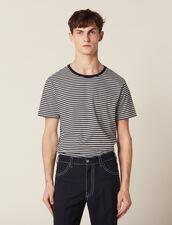 T-Shirt Marinière : T-shirts & Polos couleur Marine/Blanc