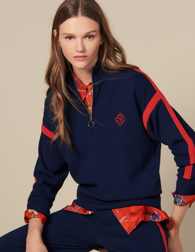 Pull Col Camionneur : Pulls & Cardigans couleur Marine