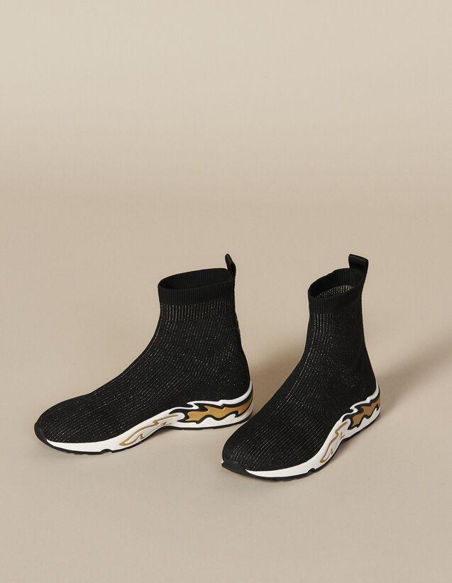 Basket Chaussette Flame : Toutes les Chaussures couleur Noir/or