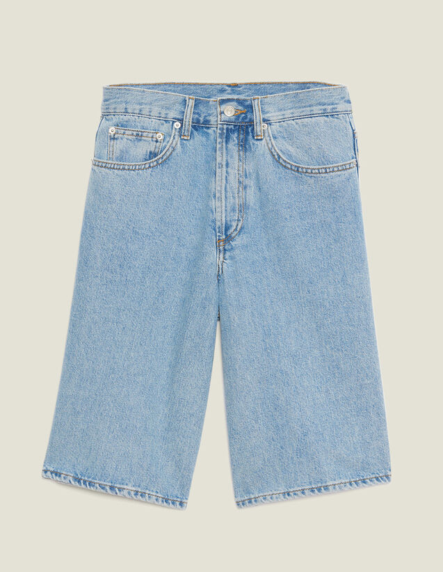 Bermuda En Jean : Pantalons & Shorts couleur Blue Vintage - Denim