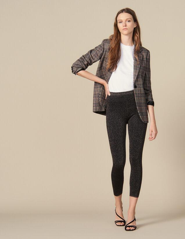 Legging En Maille Lurex : Pantalons couleur C010