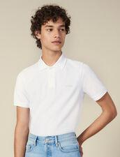 Polo En Coton À Message : Collection Hiver couleur blanc