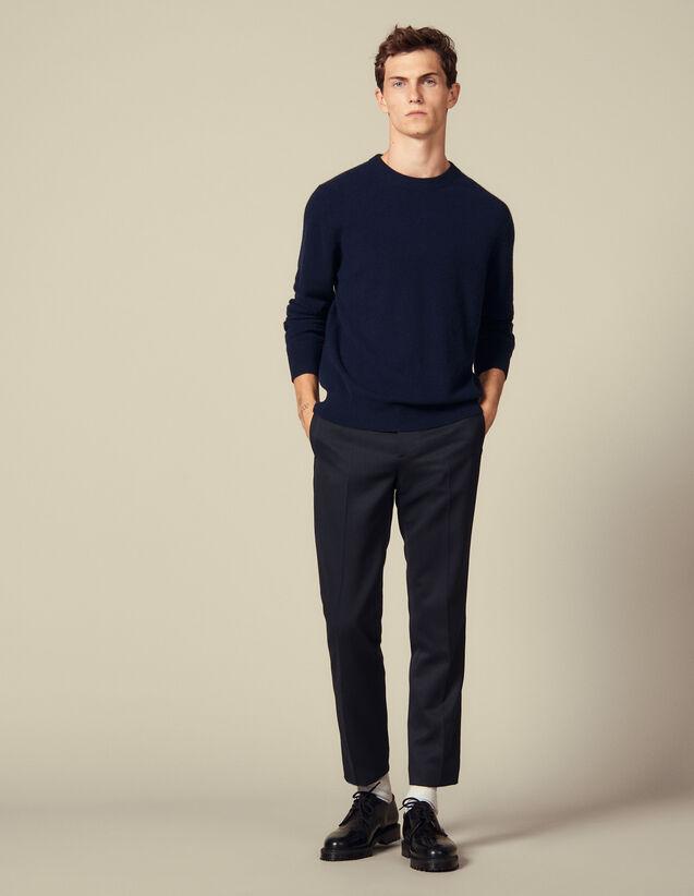 Pull en cachemire double fil : Pulls & Cardigans couleur Marine