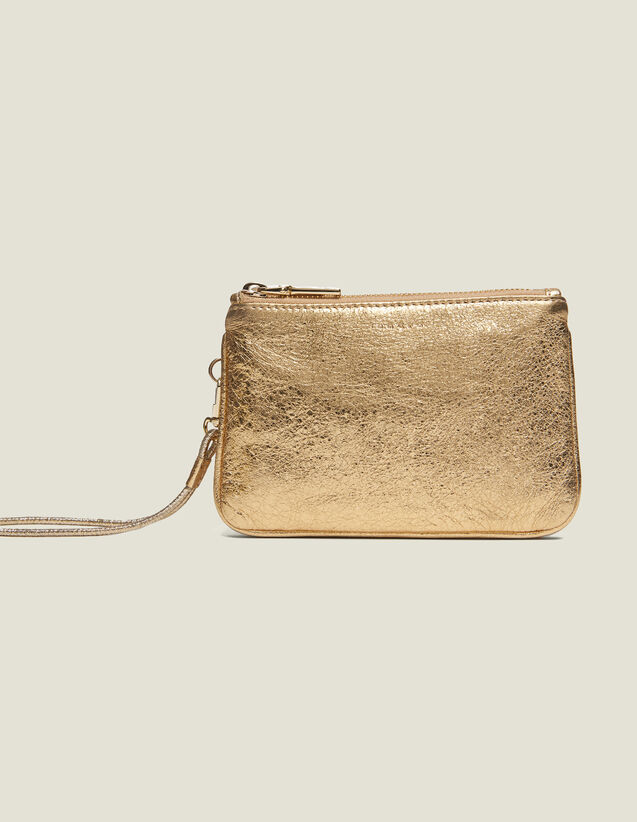 Pochette Addict : Petite Maroquinerie couleur Full Gold