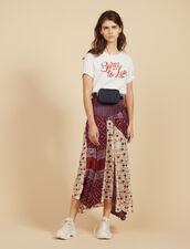 Jupe Longue En Patchwork D'Imprimés : Jupes & Shorts couleur Bordeaux
