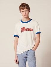 T-Shirt À Message : -40% couleur blanc
