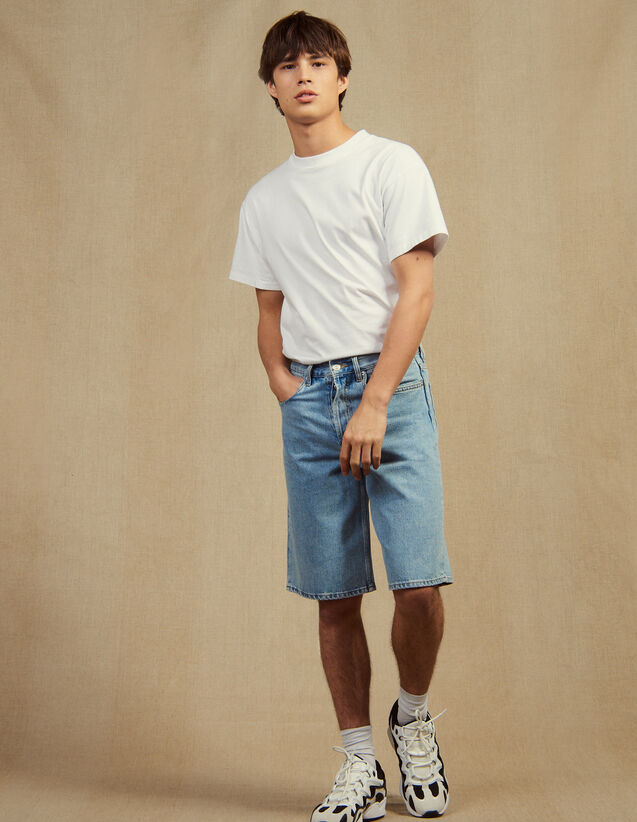Bermuda En Jean : Pantalons & Shorts couleur Blue Vintage - Denim